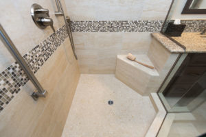 Large Luxury Walk in Shower With Shower Bench