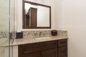 Master Bathroom Vanity with Matching Custom Mirror Frame