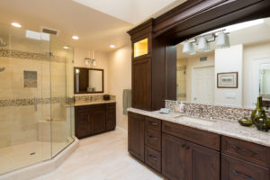 Large Matching Bathroom Vanitys With Large Luxury Shower