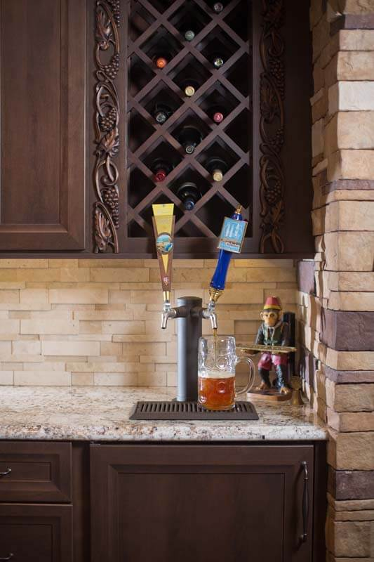 Beer Tab in Kitchen, Kitchen Renovation, Kitchen Renovation with Special Features