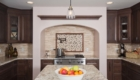 Kitchen Mosaic, Stone Mosaic, Dark Kitchen Design