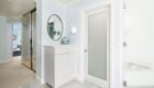White and Blue Master Bathroom, Irvine California Master Bathroom Remodel, Beautiful Bathroom