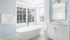 Freestanding Tub, Spa Elegance, Over Sized Shower