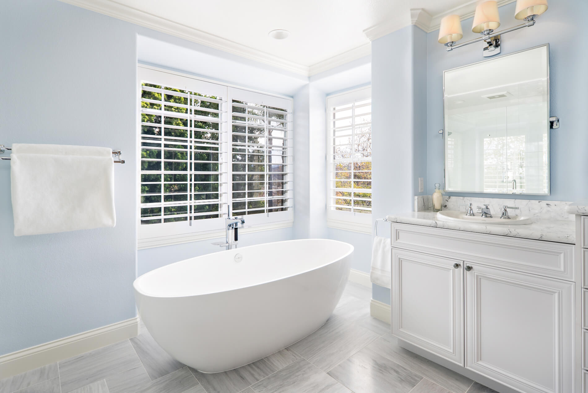 Freestanding Tub in Remodeled Bathroom, Updated Bathroom Designs, Updating Bathroom in Orange County