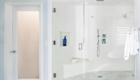 Master Bathroom, Large Glass Shower, Stylish Master Bathroom