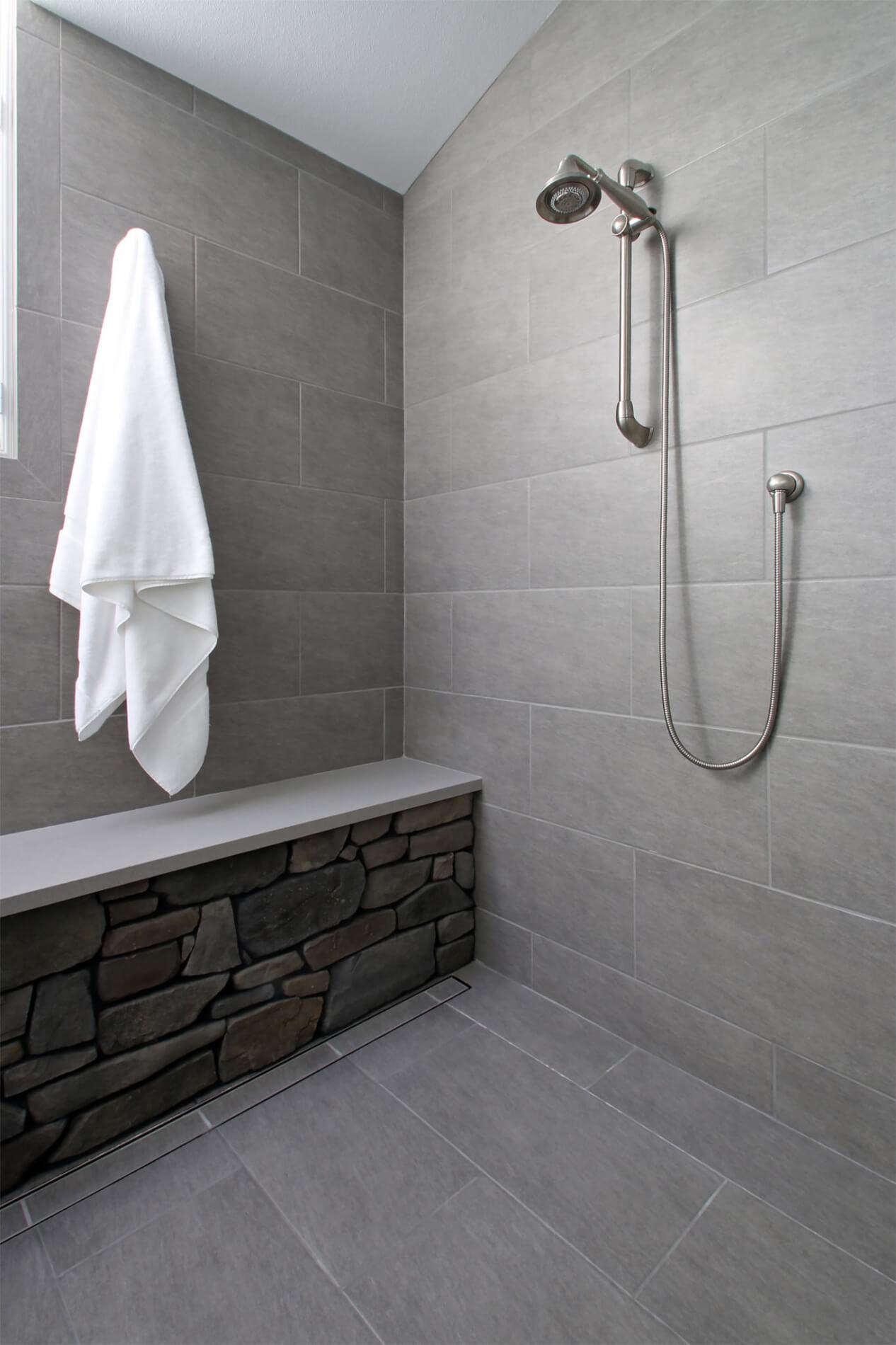 Seamless Shower Drain, Beautiful Newport Beach Master Bathroom Remodel, Master Bathroom Remodel