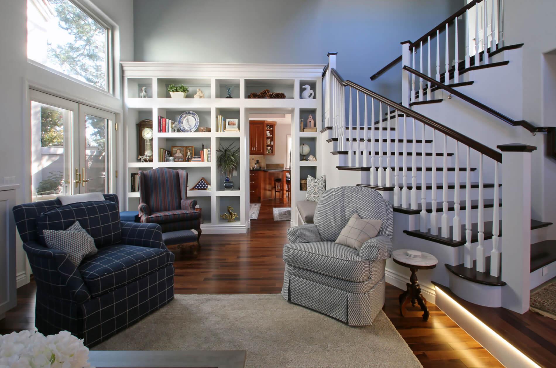Family room remodel in Orange County, Family Friendly Remodeled Living Space in Orange County California