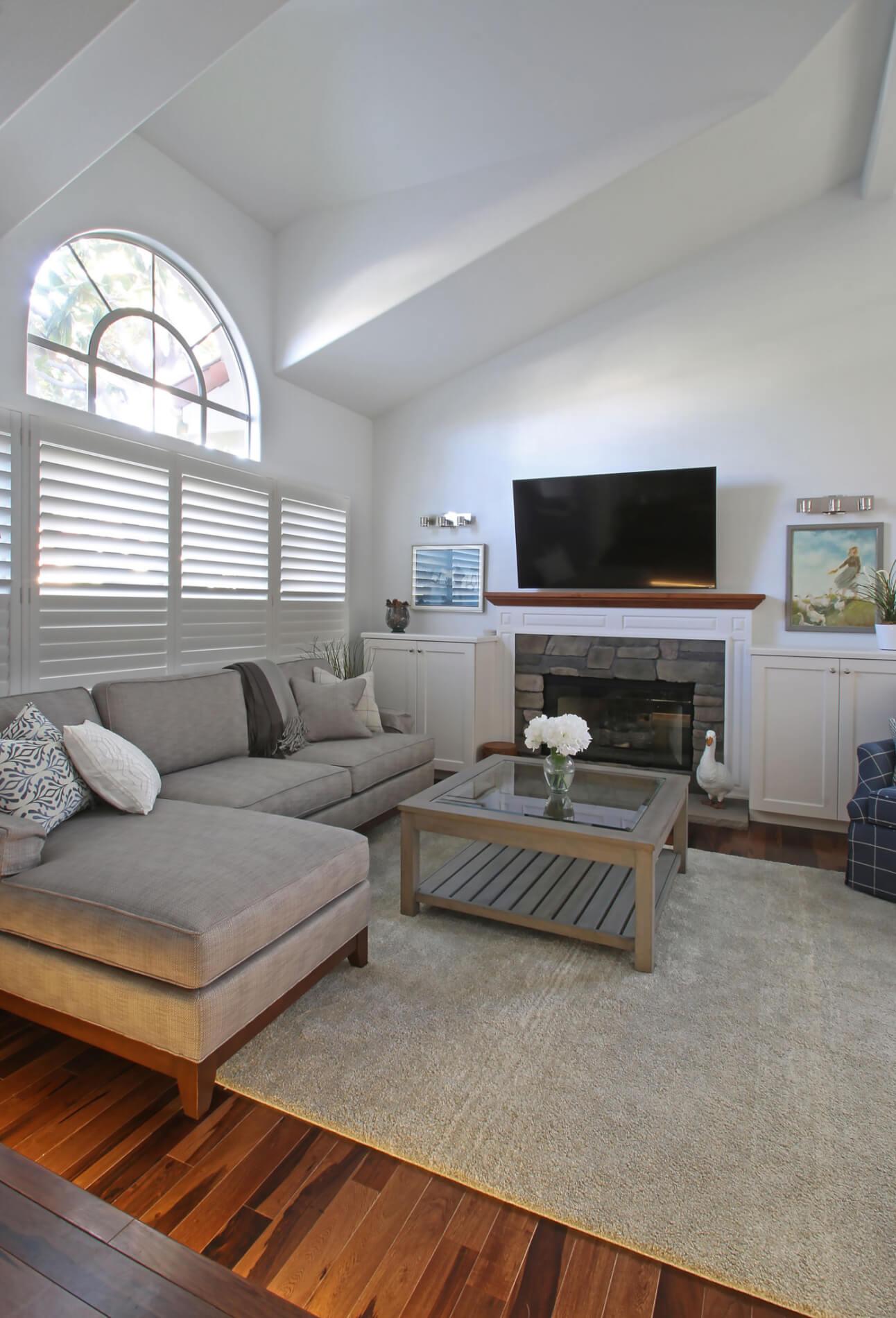 Family Room Remodel in Orange County California