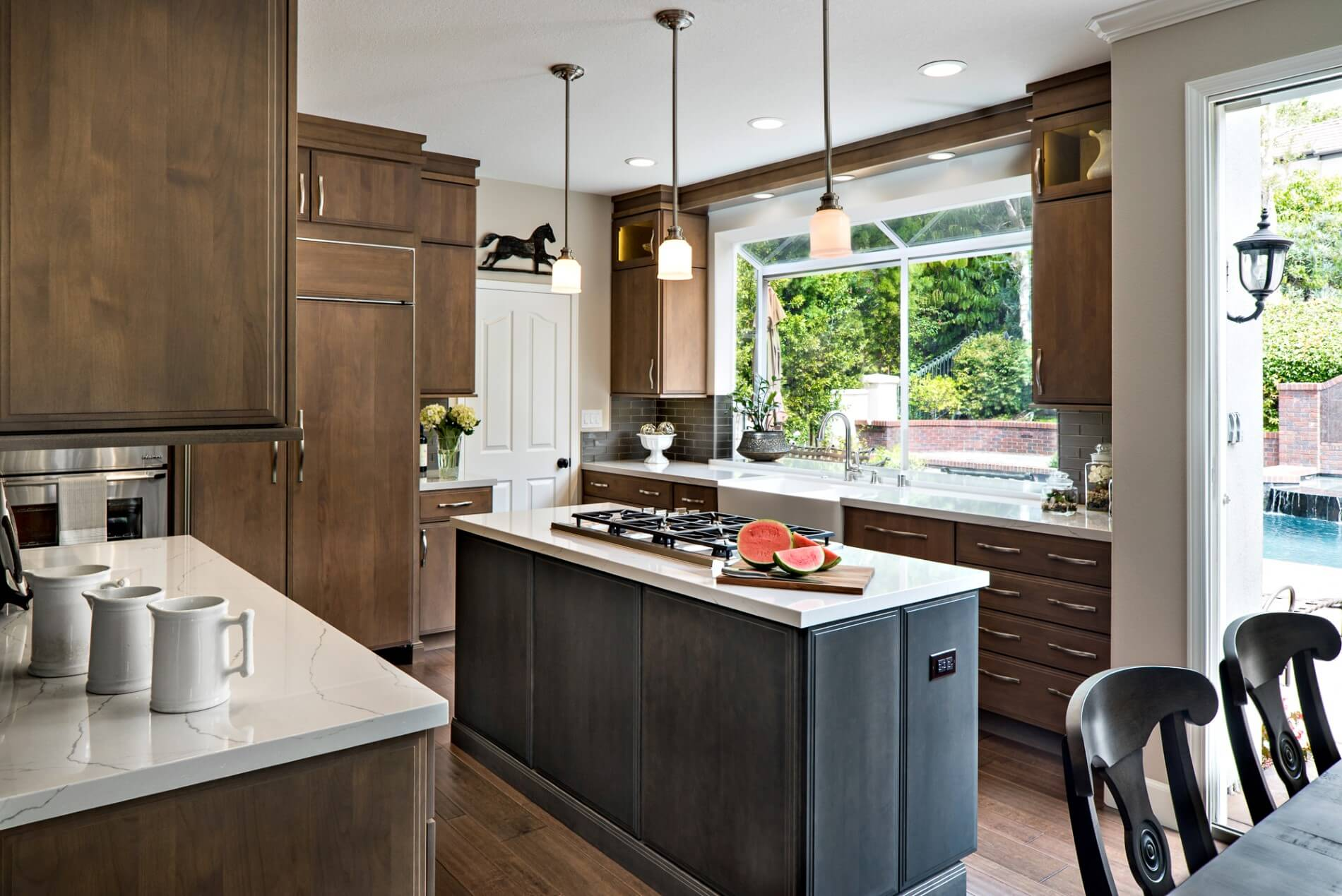 Kitchen Remodel with Island, Luxury Home Remodel, Design Build Remodeling Orange County