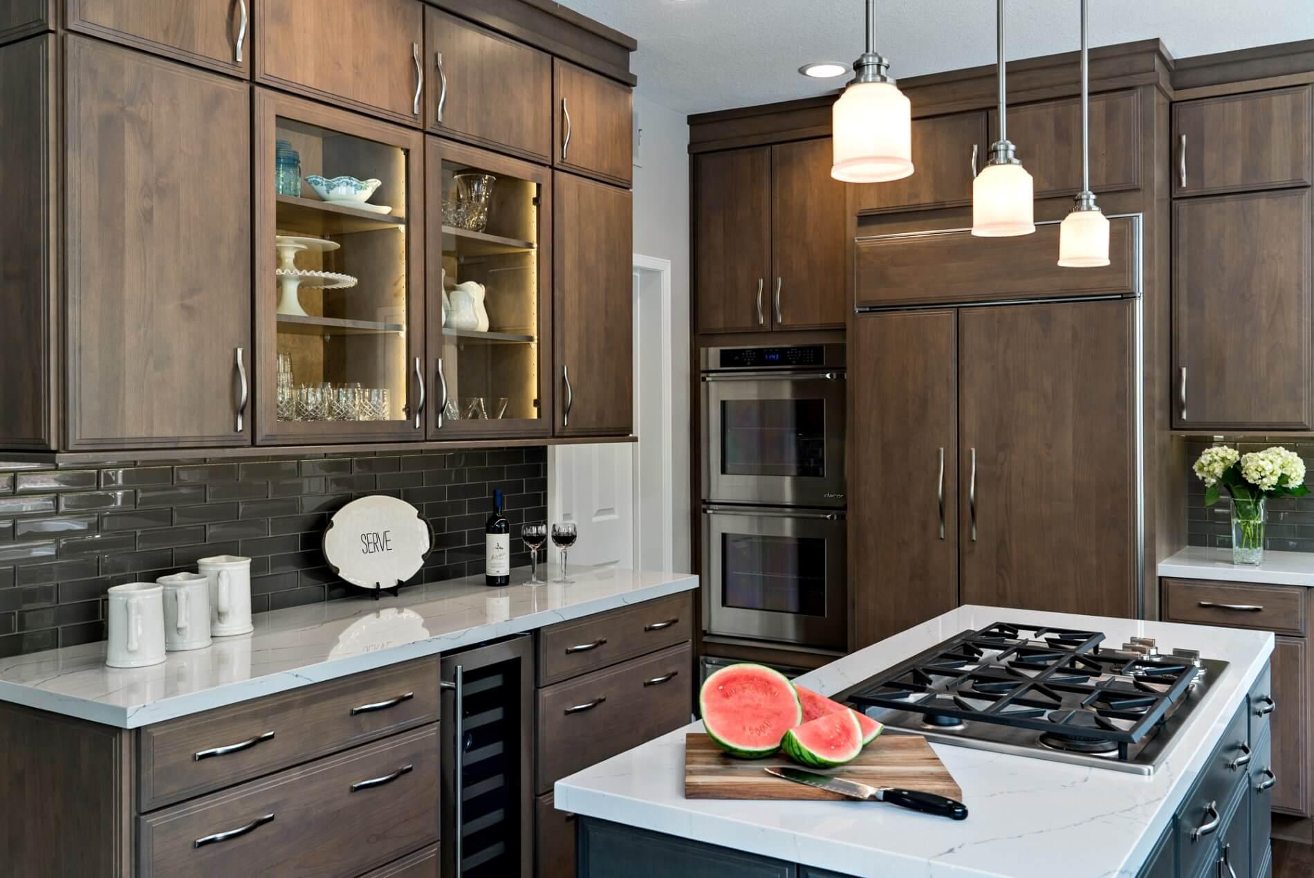 Dark Kitchen Design Orange County, Orange County Remodeled Kitchen, Luxury Kitchen Design