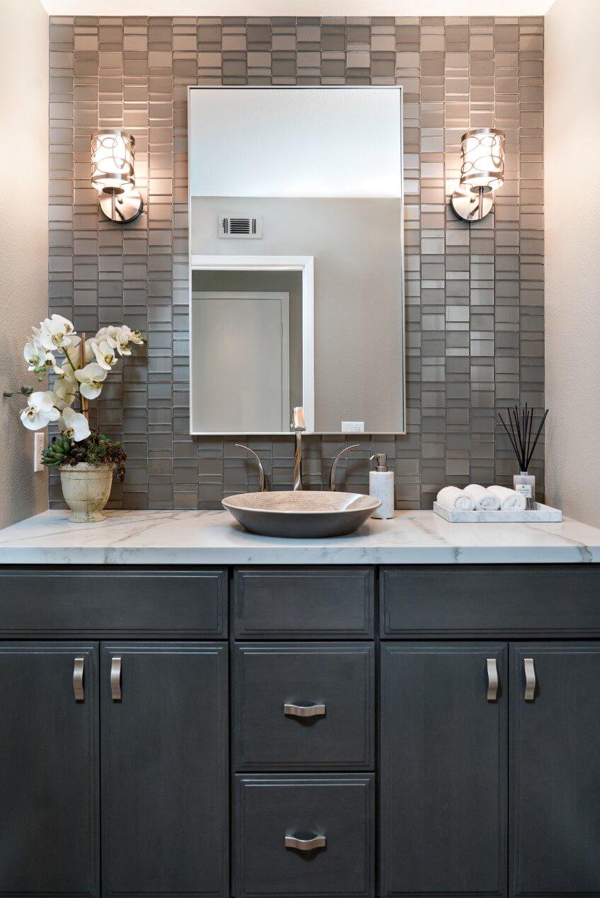 Powder Bathroom Remodel, Orange County Powder Bathroom Design, Powder Bathroom Remodel