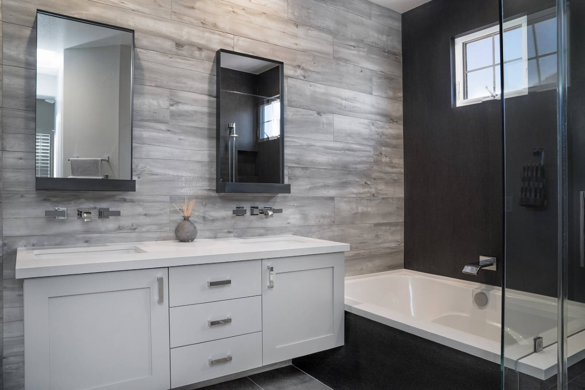 Custom Accent Wall Master Bathroom, Custom Master Bathroom Design, Luxury Master Bathroom Remodel
