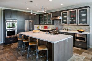 Large Kitchen Island, Modern Kitchen Design, Modern Kitchen