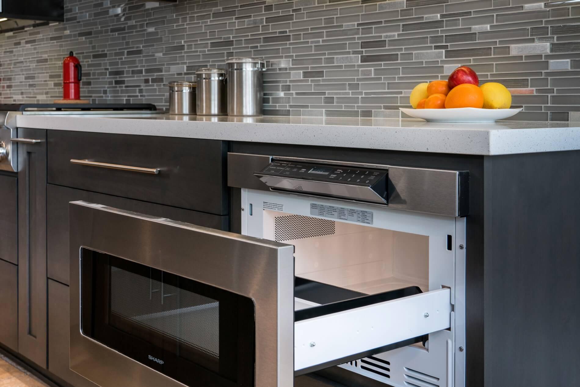 Microwave Drawer, Luxury Kitchen Remodel, Modern Kitchen Design