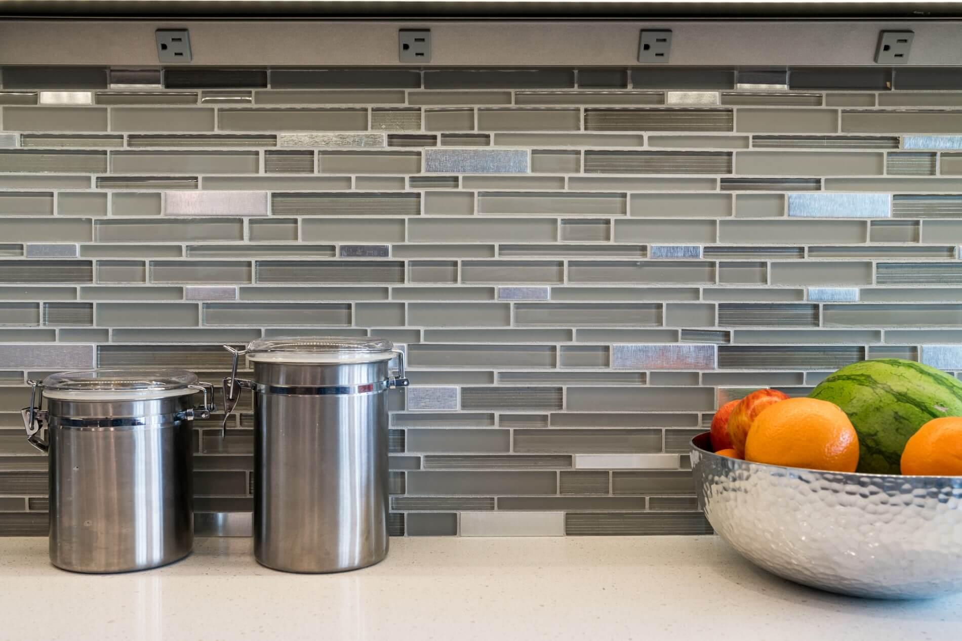 Glass Backsplash, Modern Kitchen Design, Orange County Luxury Home Remodelers