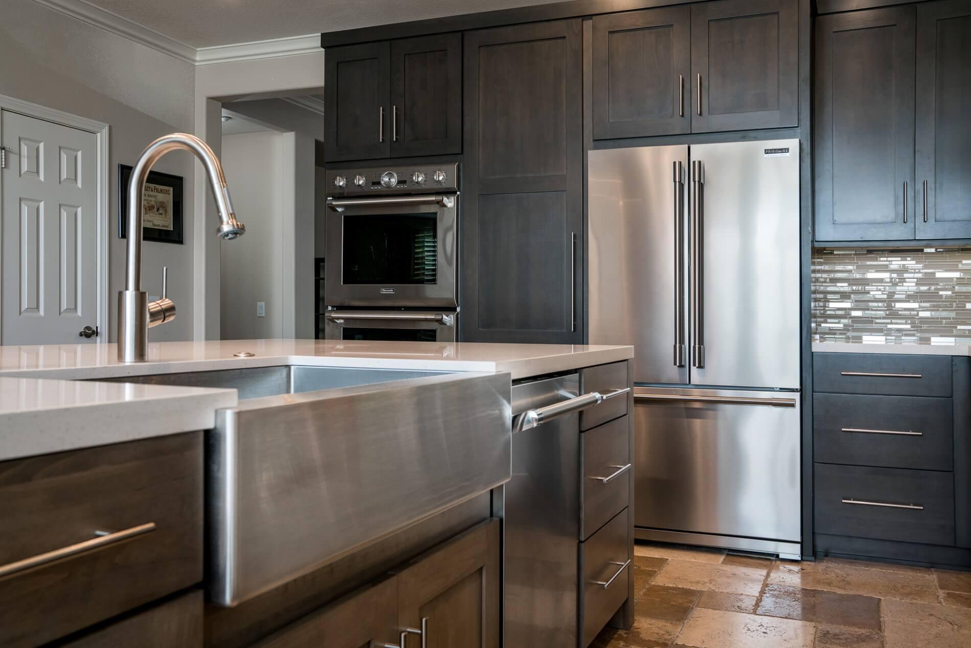 Stainless Steel Kitchen Sink, Modern Kitchen Design, Orange County Luxury Kitchen Builders