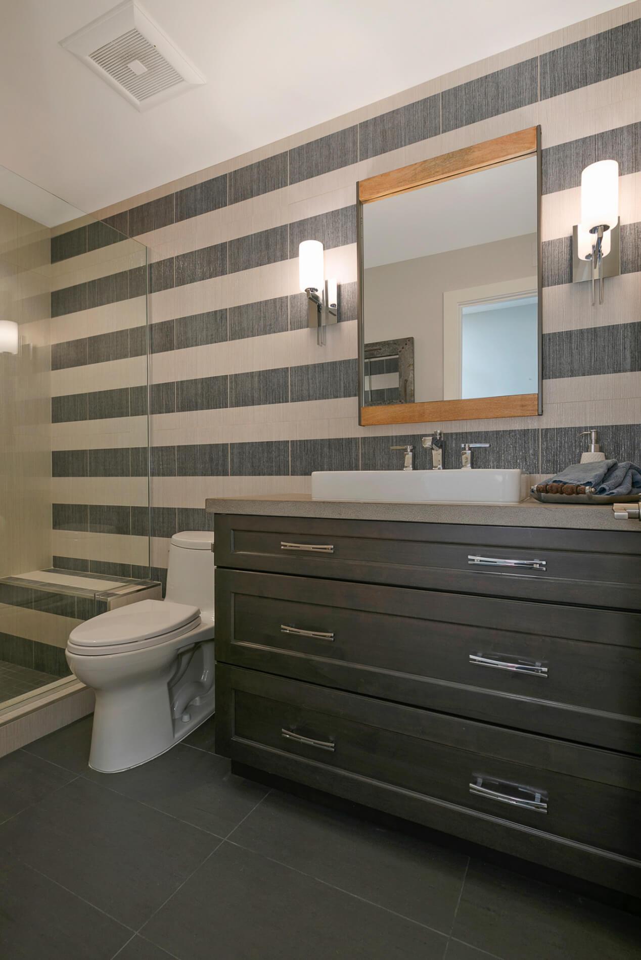 Secondary Bathroom in Orange County, San Clemente Secondary Bathroom, Unique and Custom Secondary Bathroom Design