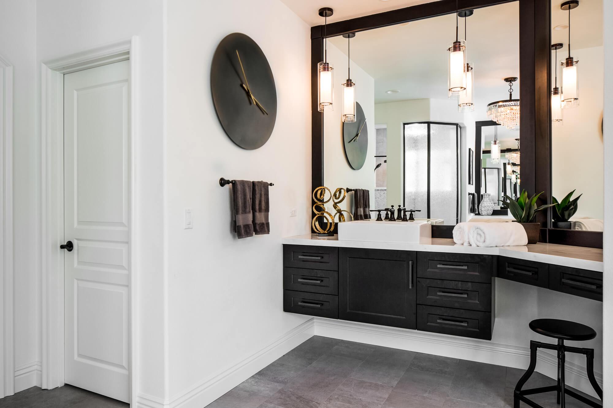 Floating Vanity in Master Bathroom, Master Bathroom Design, Orange County Custom Home Remodeling