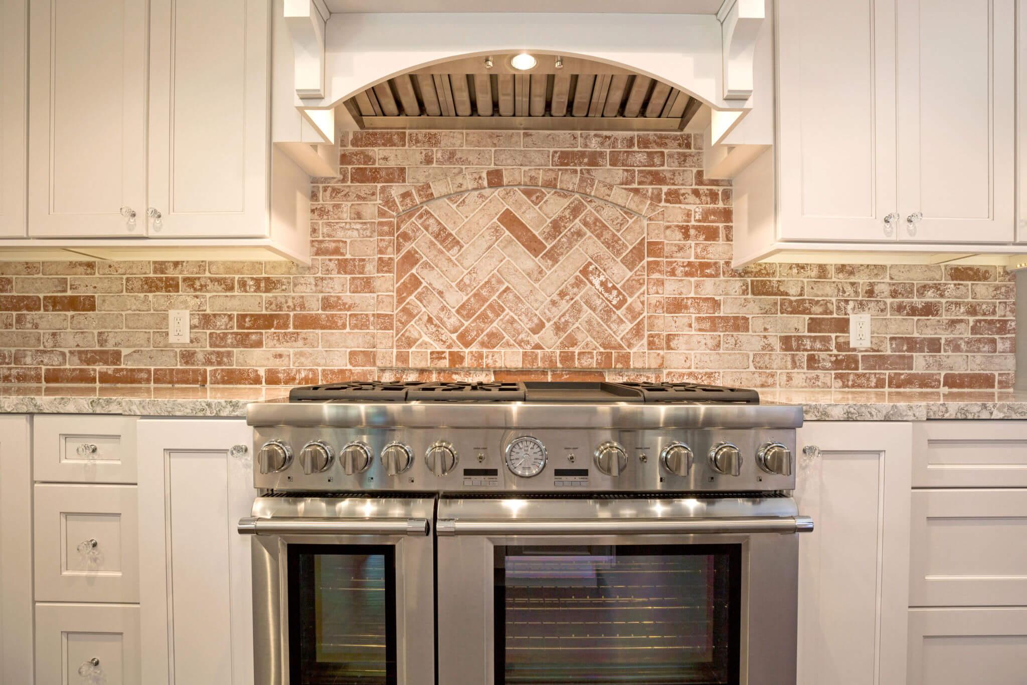 Brick backsplash detail, Remodeled Kitchen Details