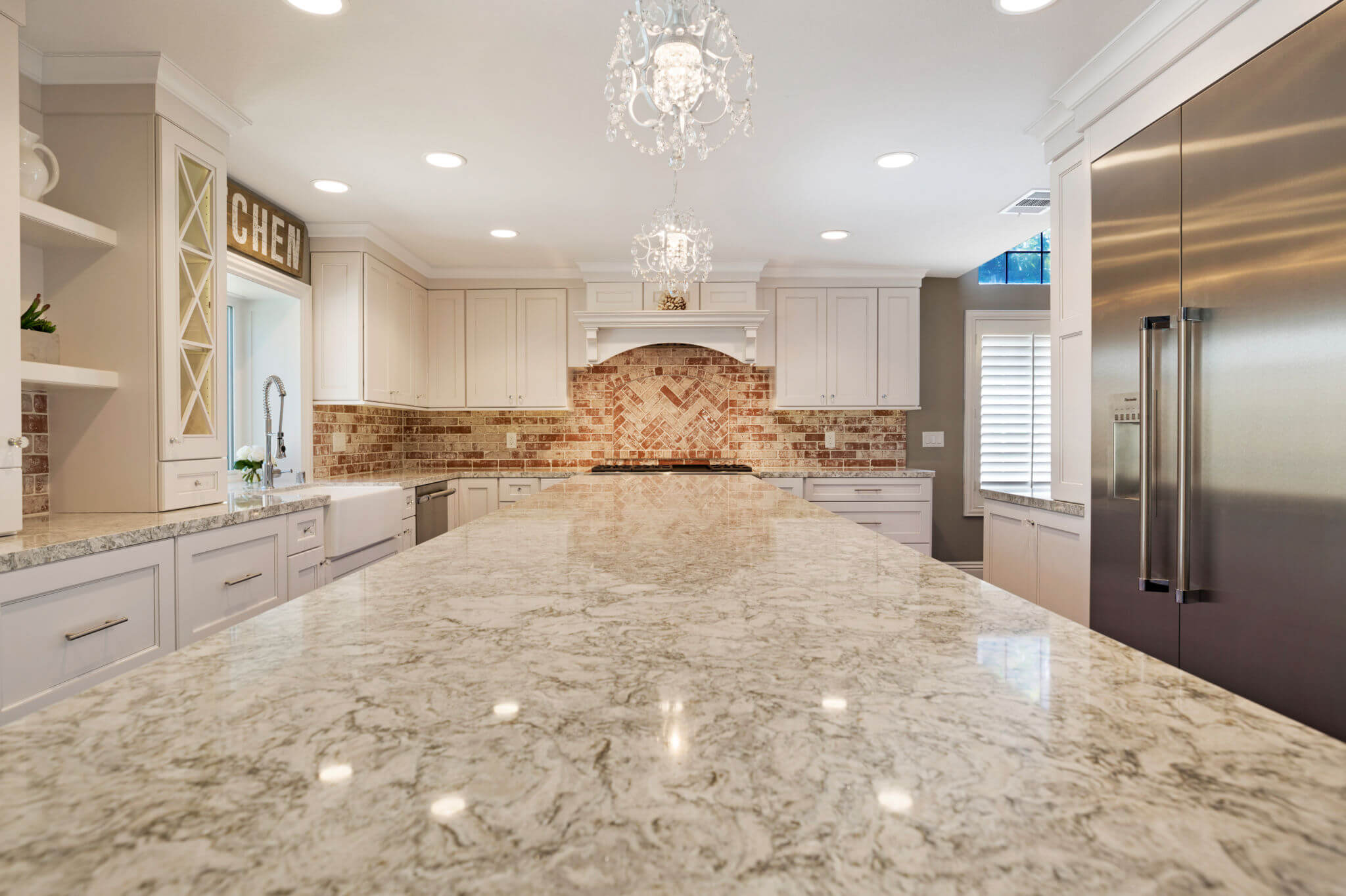 Quarts Kitchen Island, Luxury Kitchen Remodel Orange County