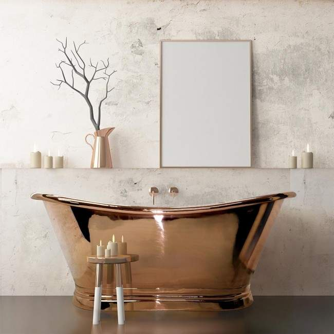 Copper Tub Bath Remodel