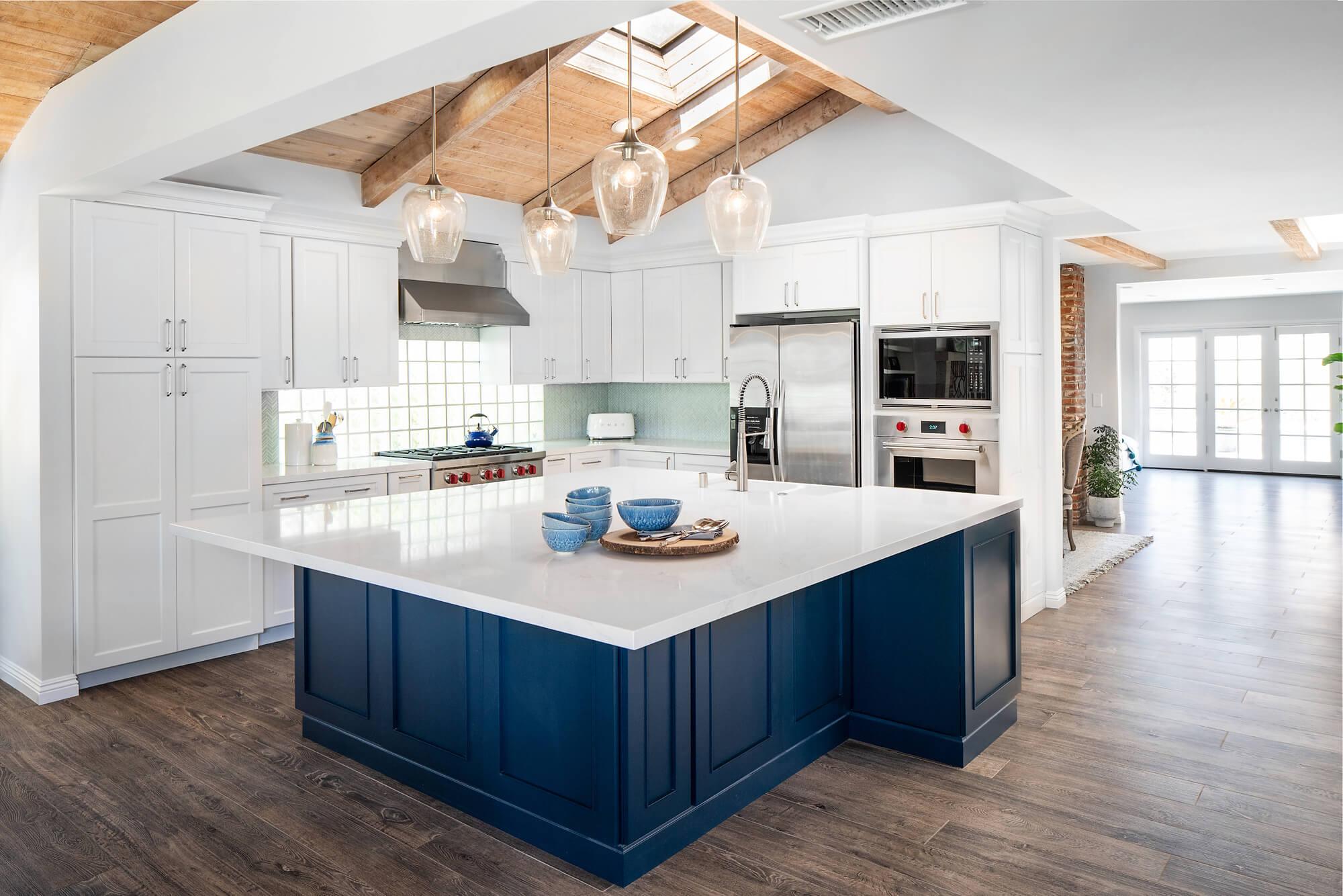Blue Kitchen Designs are In