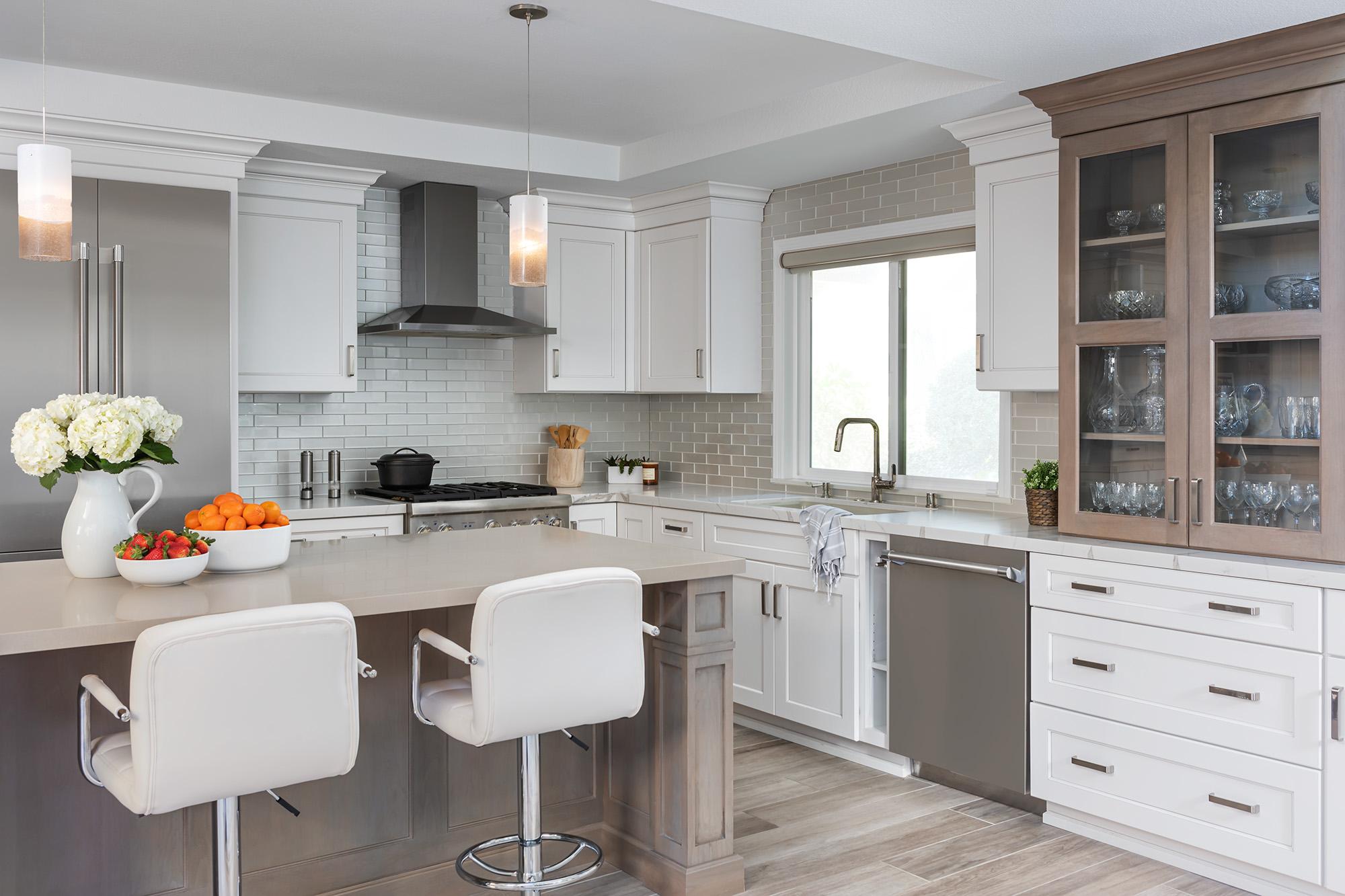 Irvine kitchen remodel includes work from home desk