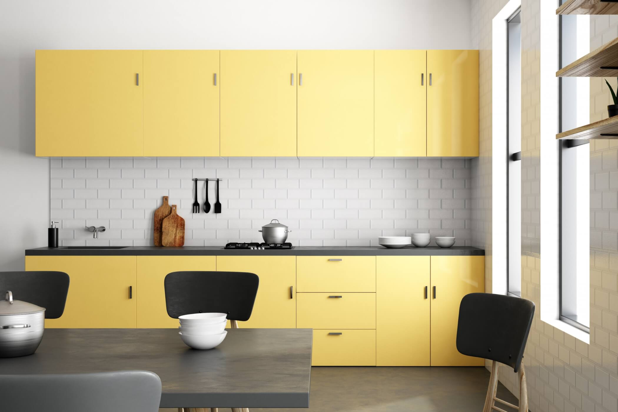 Butter-yellow-cabinetry