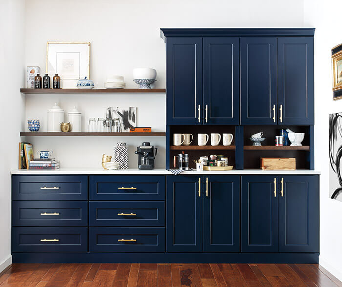Blue kitchen Cabinets are on Trend