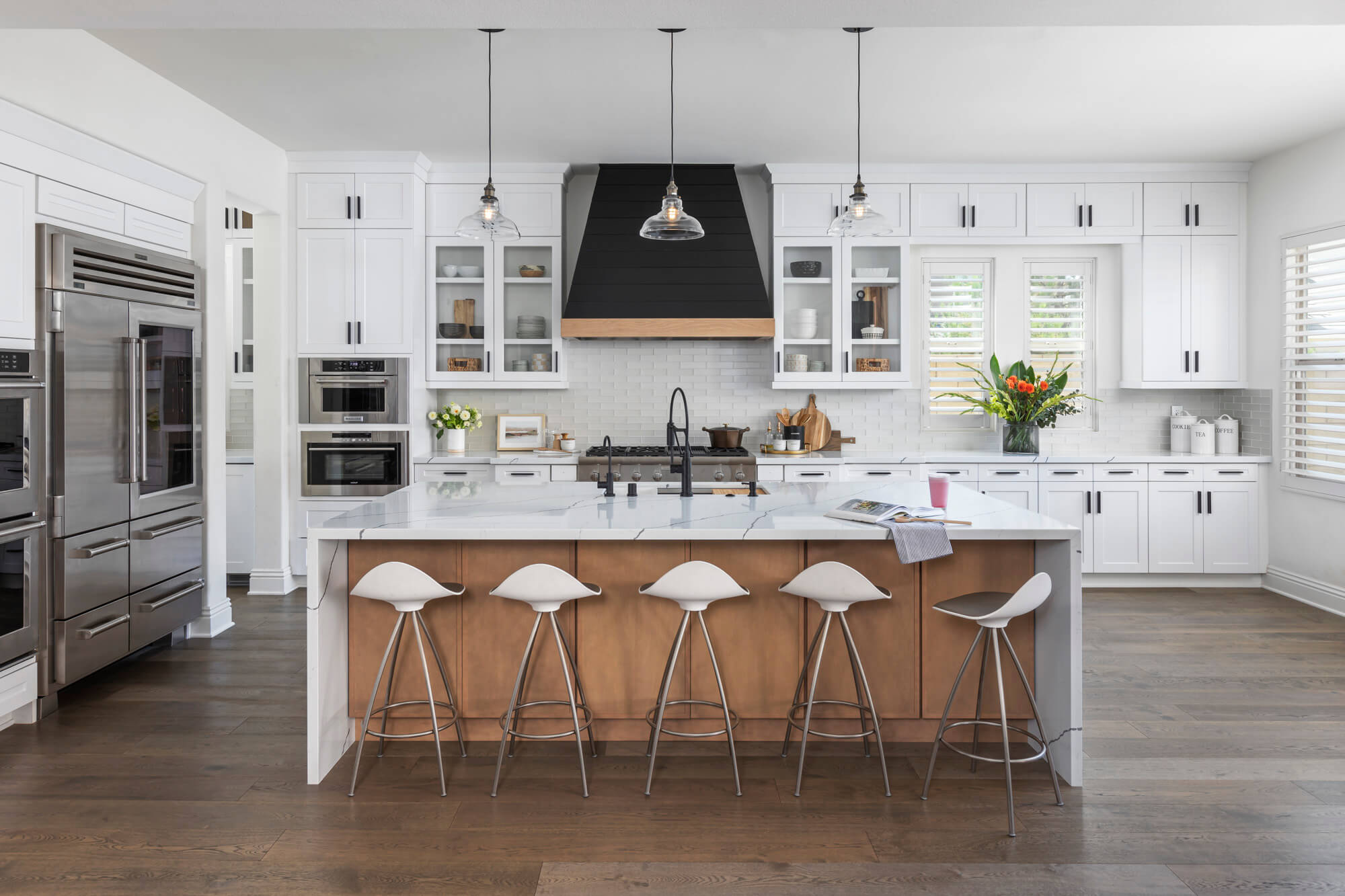 Kitchen remodel featuring stunning kitchen island.