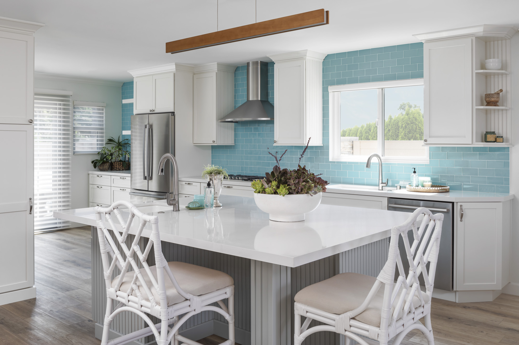 San Clemente Kitchen with White kitchen cabinets and Universal Design
