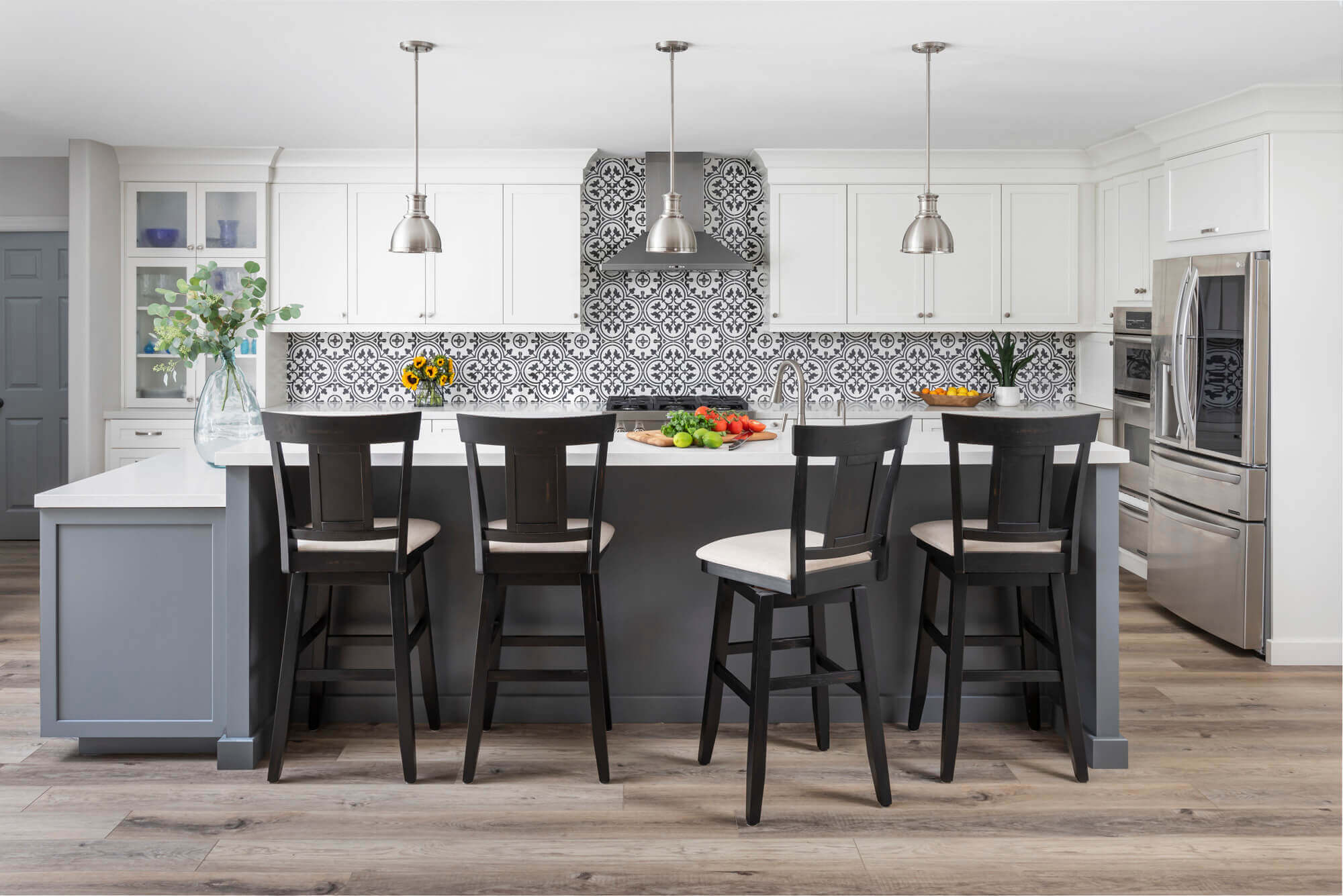 Kitchen room addition with timeless cabinetry