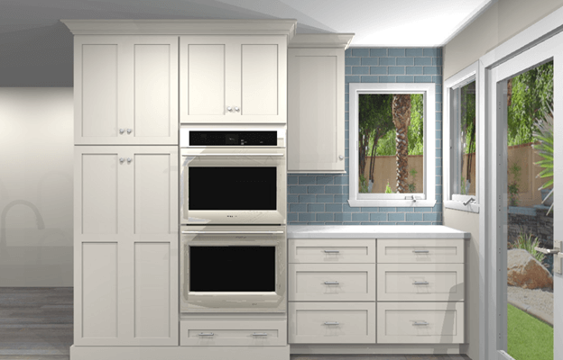 Alternate Kitchen Wall Across from Main Kitchen South Wall rendering
