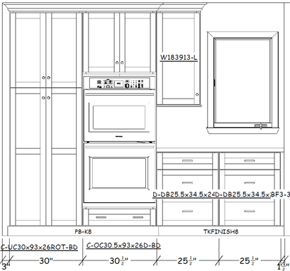 Kitchen cabinet elevations
