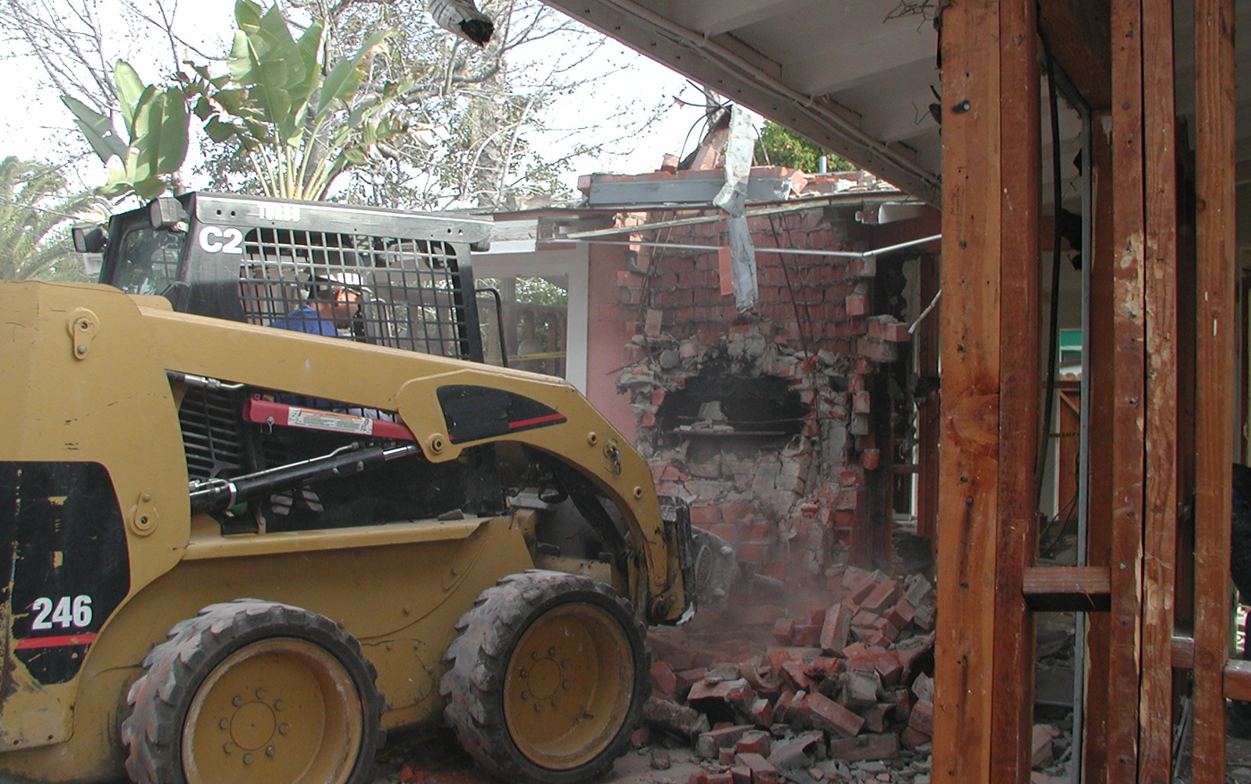 Bulldozing-by-Sea-Pointe-Construction-For-Extreme-home-makeover