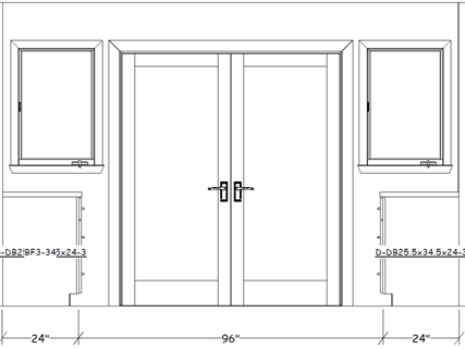 French door elevations