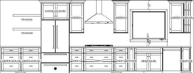 San Clemente Kitchen Cabinet Elevations