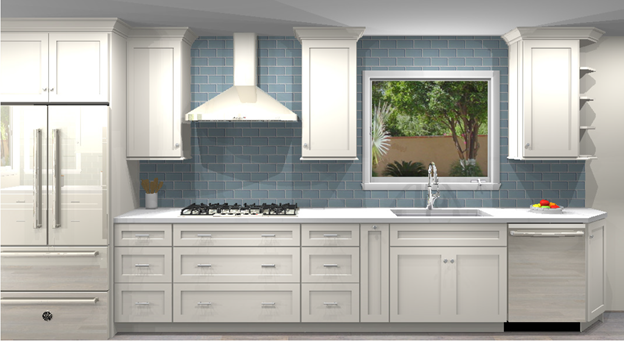 3D color rendering of San Clemente Kitchen design