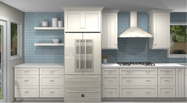 3D color renderings for San Clemente kitchen remodel