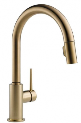 Gold kitchen faucet for kitchen remodel
