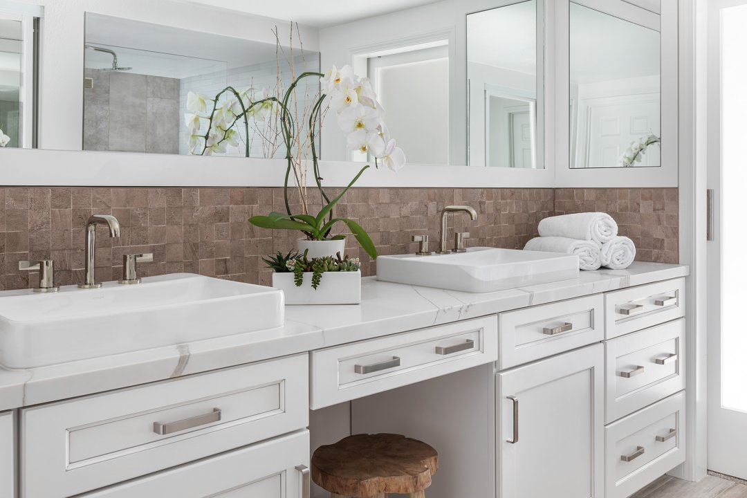 Irvine Master and Hall Bathroom Makeover