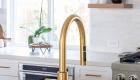 Gold-kitchen-faucet