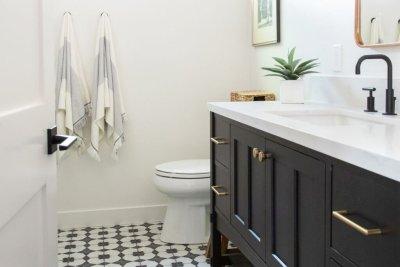 Lake Forest Rustic Bathroom Remodel