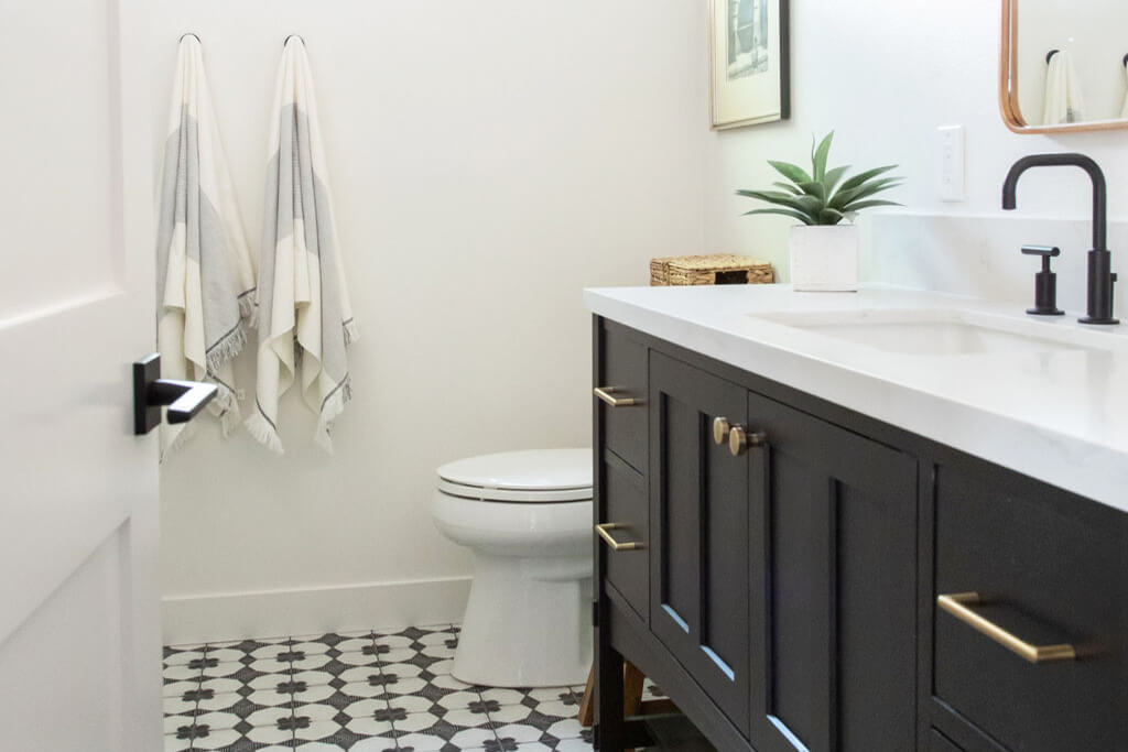 Lake Forest Rustic Bathroom Remodel