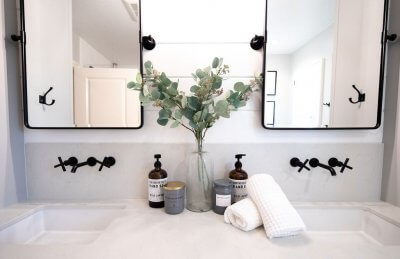 Small Modern Farmhouse Bathroom Remodel in Ladera Ranch