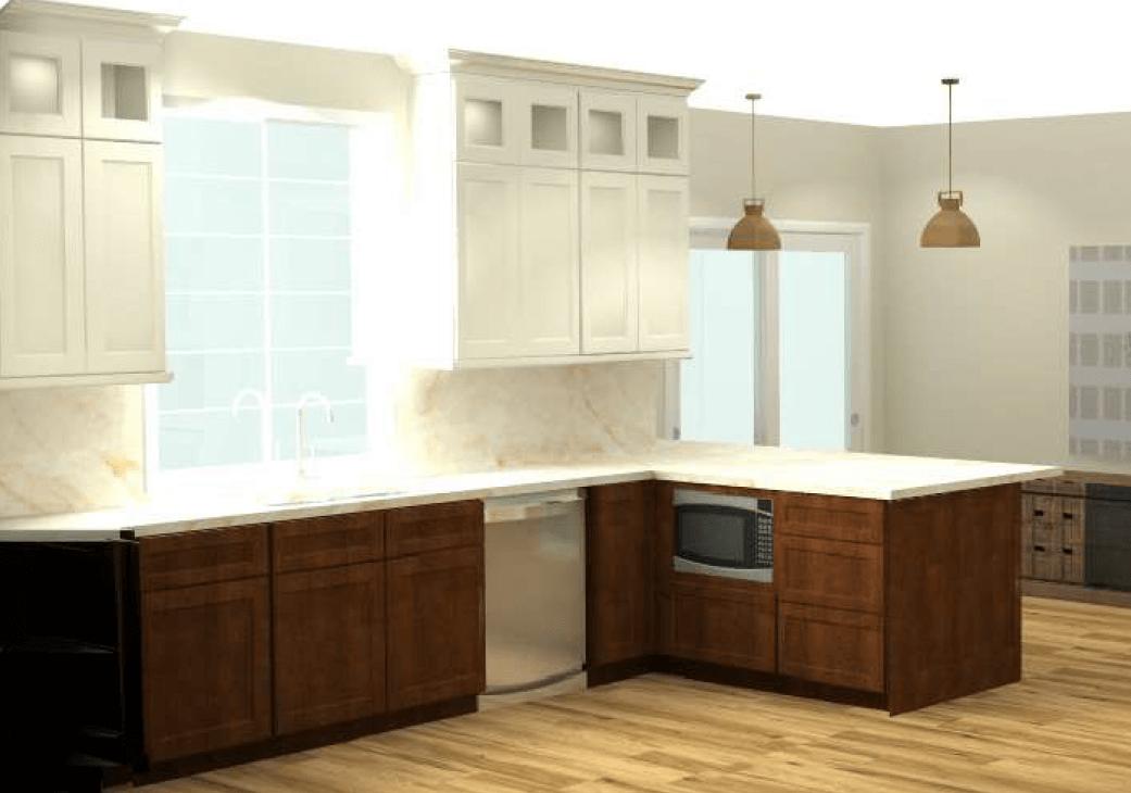 3D Kitchen color renderings