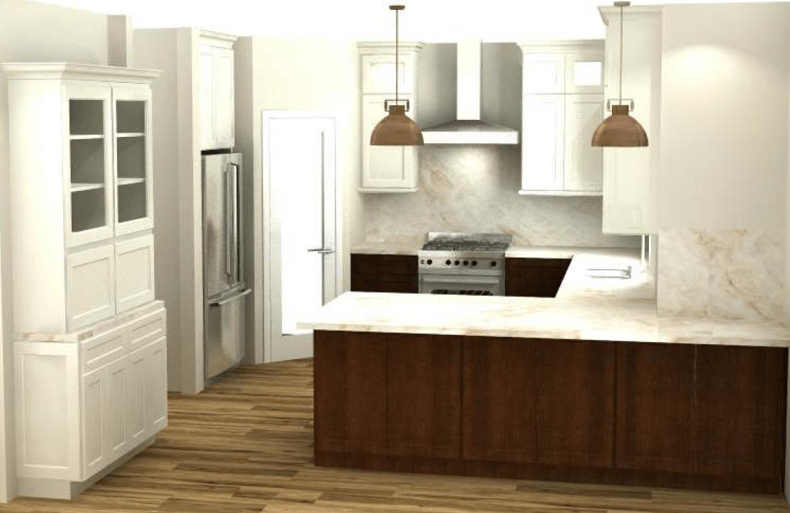 3D color renderings for kitchen design