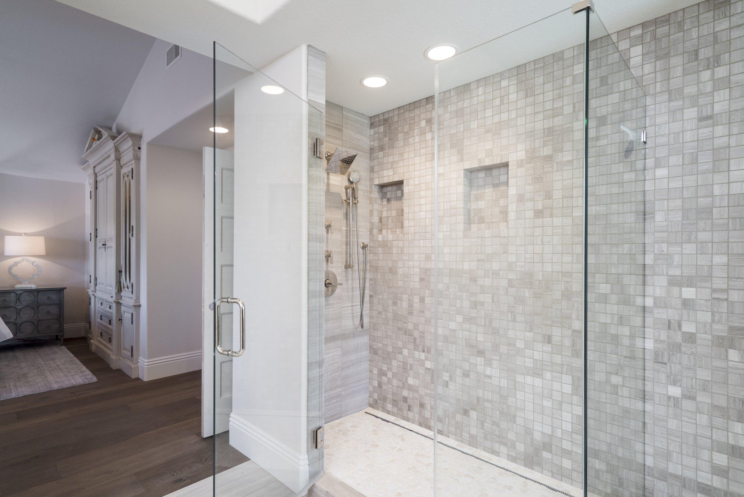 Double wide shower remodel design