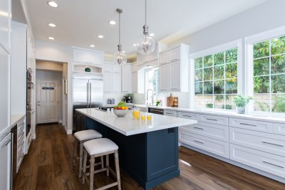 Blue and White Kitchen Remodel in Rancho Santa Margarita