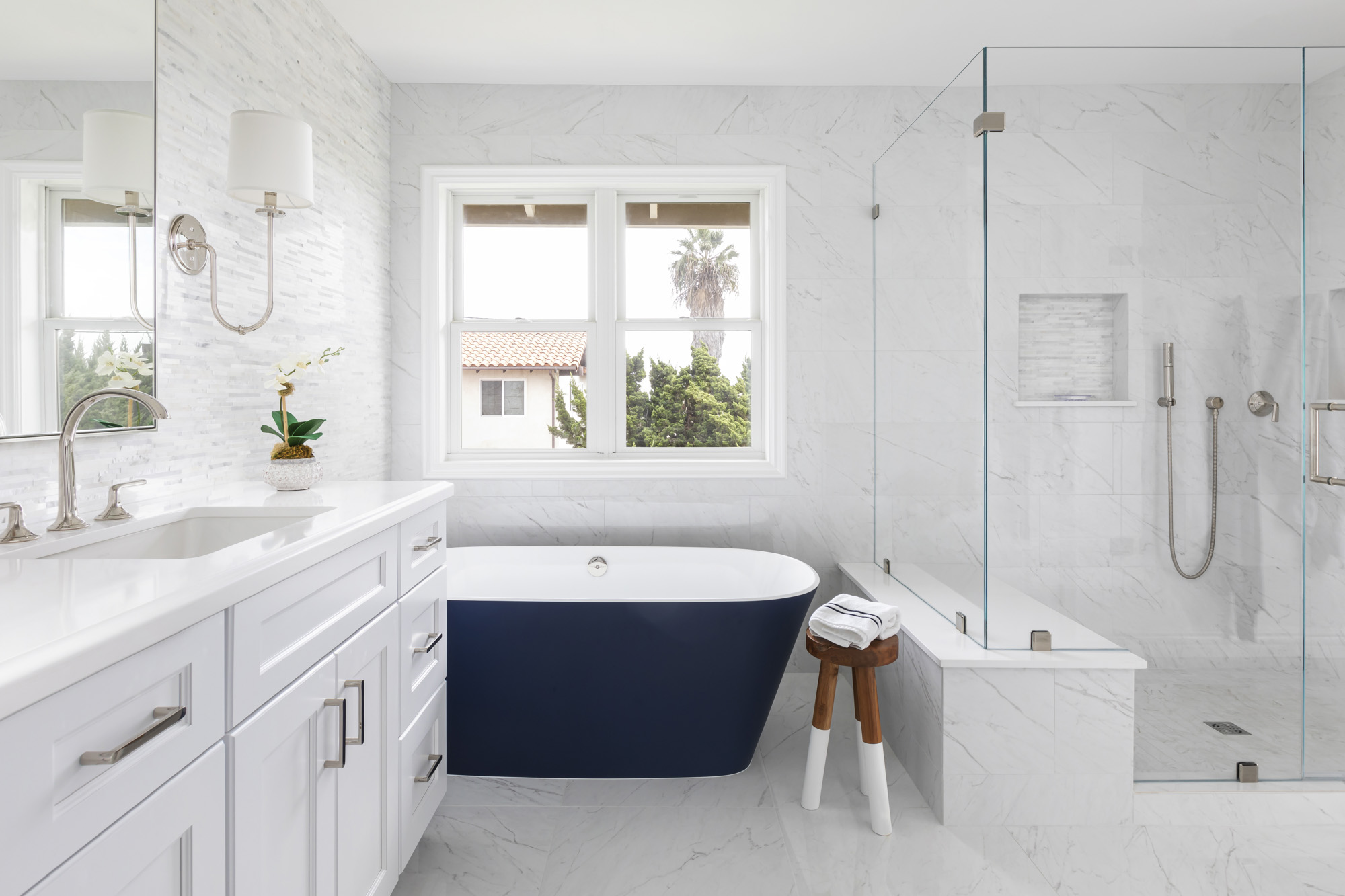 Bold-blue-victoria-albert-freestanding-tub-bathroom-remodel